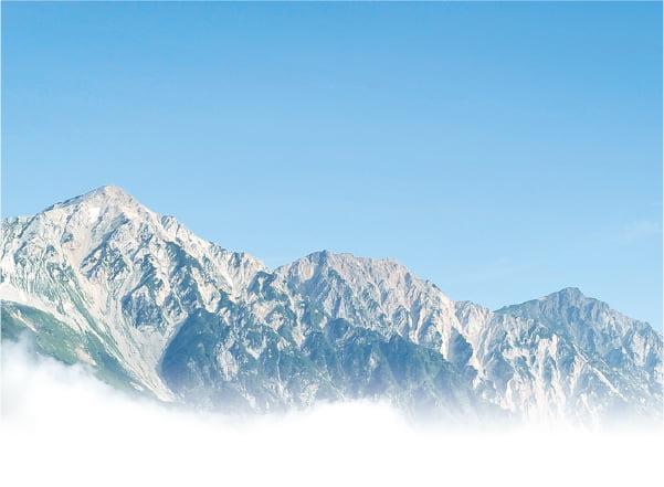 白馬鑓ヶ岳,杓子岳,白馬岳のイメージ画像